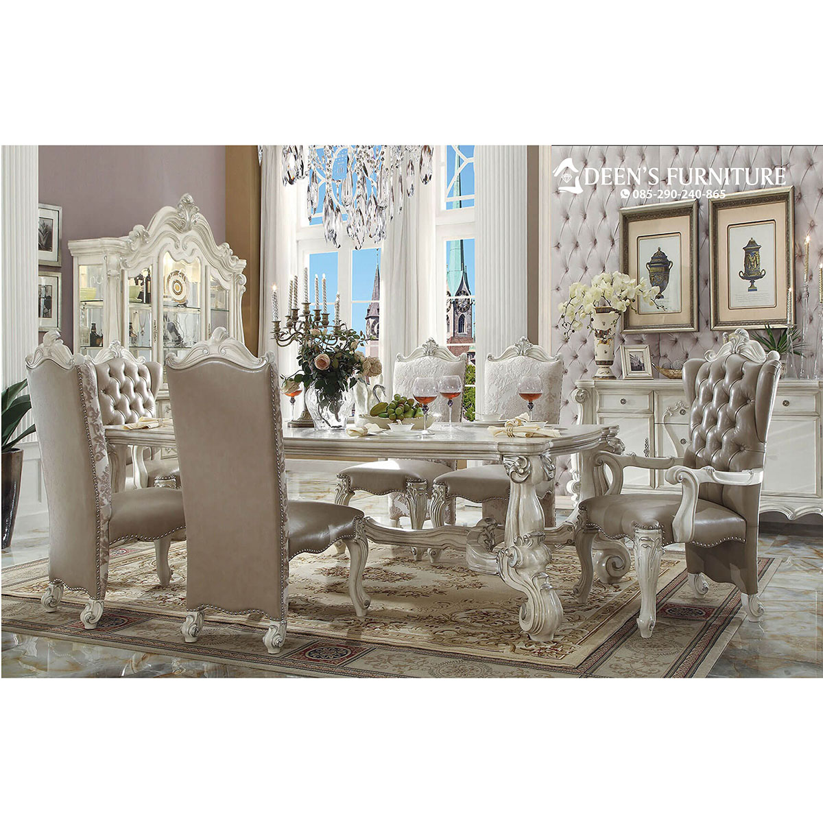 Meja Makan Mewah Ukir Custom Furniture Indonesia