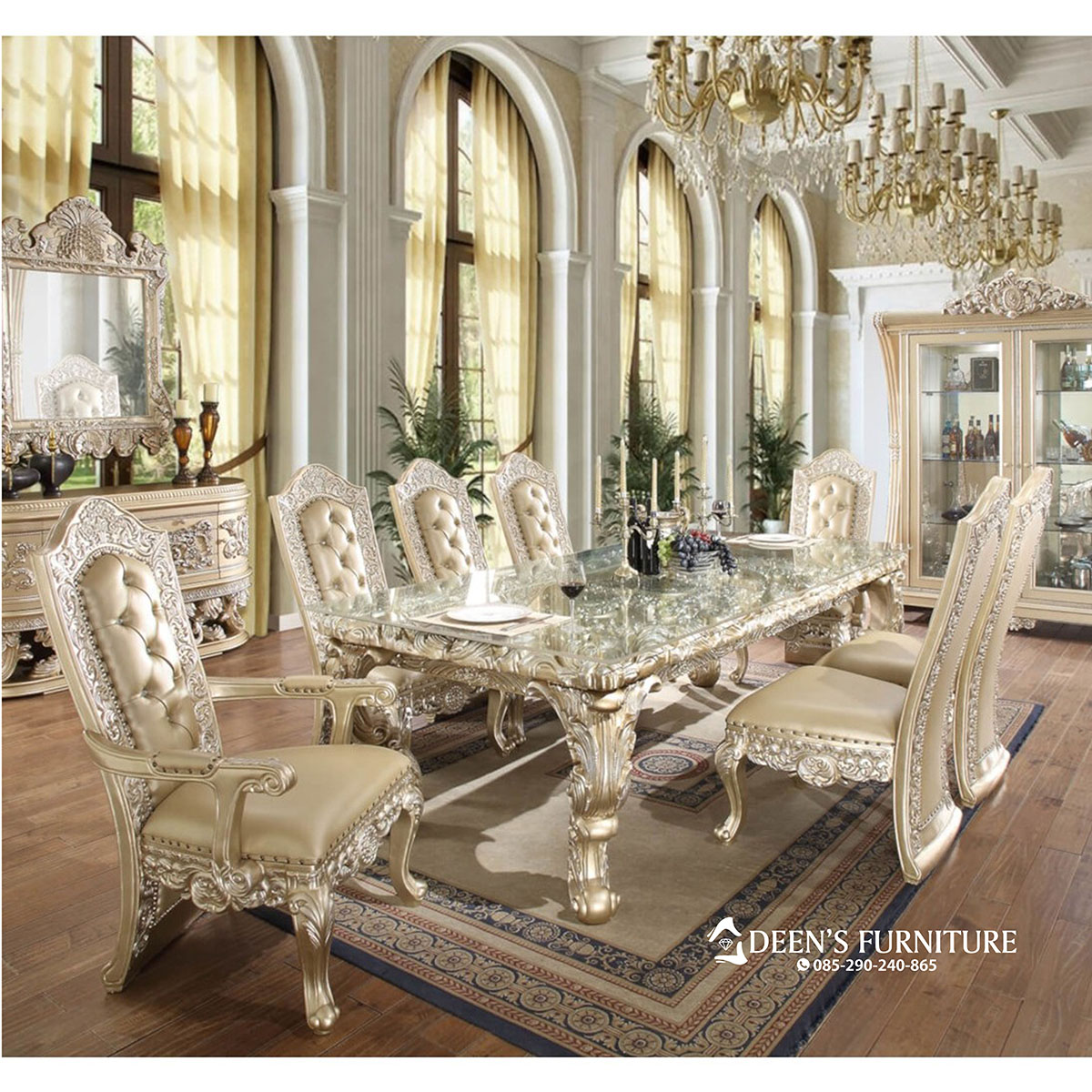 Set Meja Makan Luxury Dining Table Furniture