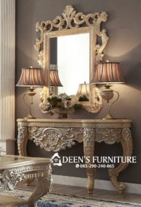 Console Table With Mirror Classic Design